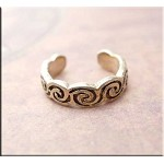 SOLD - Sterling Silver Celtic Swirl Toe Ring