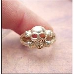 SOLD - Sterling Silver Skull Toe Ring