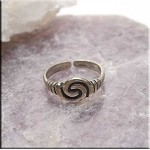 SOLD - Sterling Silver Cetlic Toe Ring, Spiral