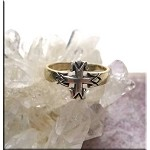 SOLD - Sterling Silver Southwestern Cross Toe Ring