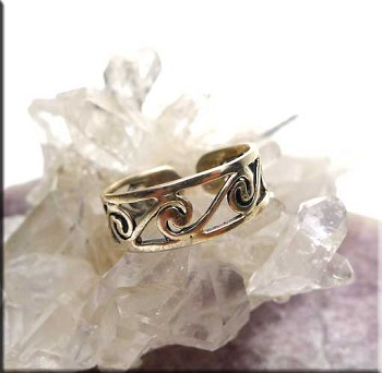 ZSOLD / Sterling Silver Surround Spiral Toe Ring