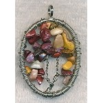 Tree of Life Pendant with Mookaite Jasper